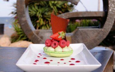 Macaron Raspberry Pistachio France - St-Aygulf 2011 at Le Mas d'Estel